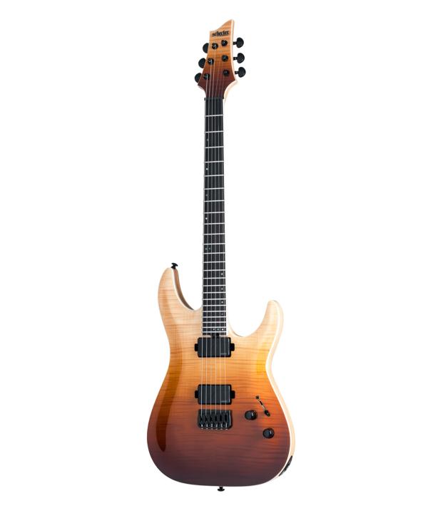 Schecter C-1 SLS Elite -kitara Antique Fade Burst.