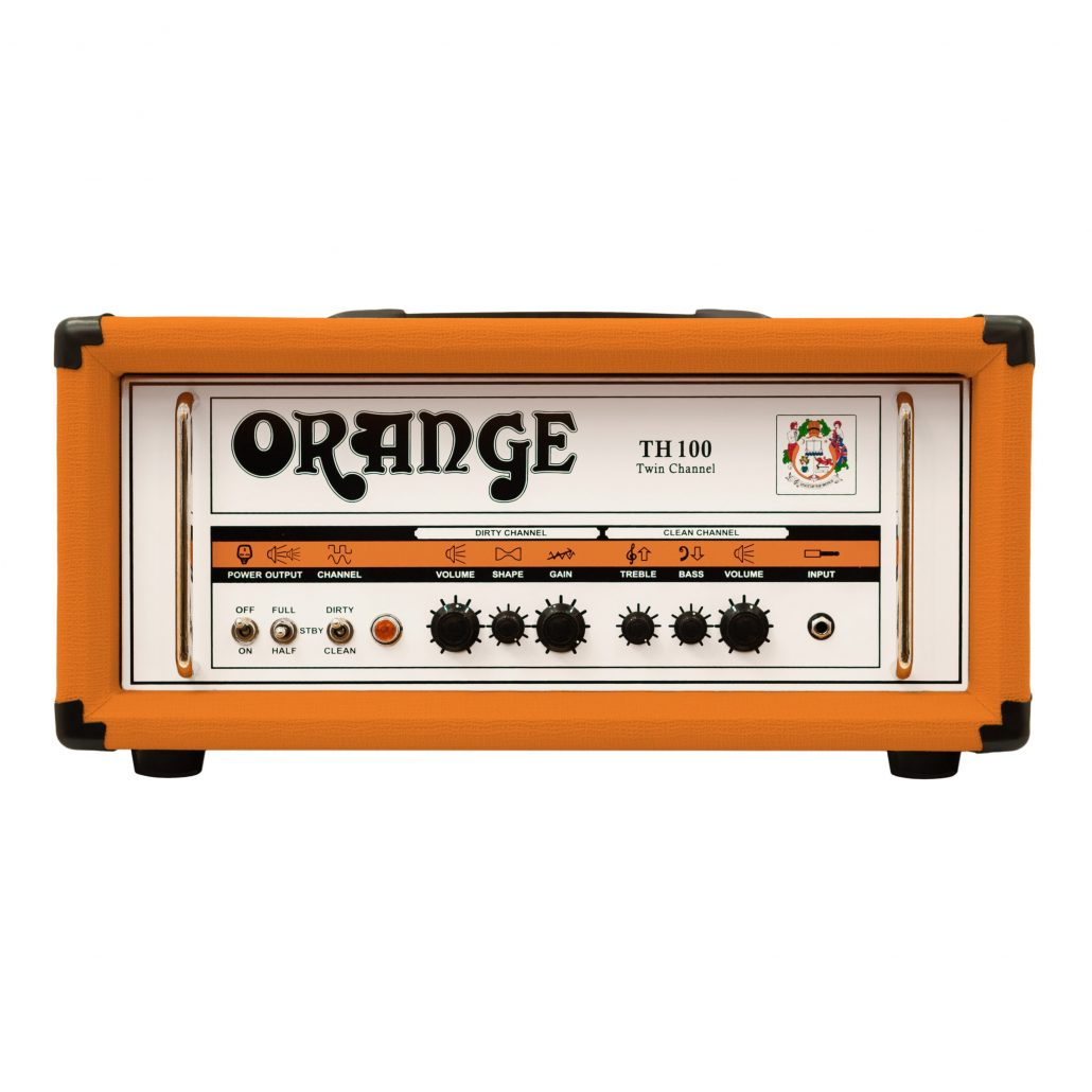 Orange TH100 -kaksikanavainen kitaravahvistin.
