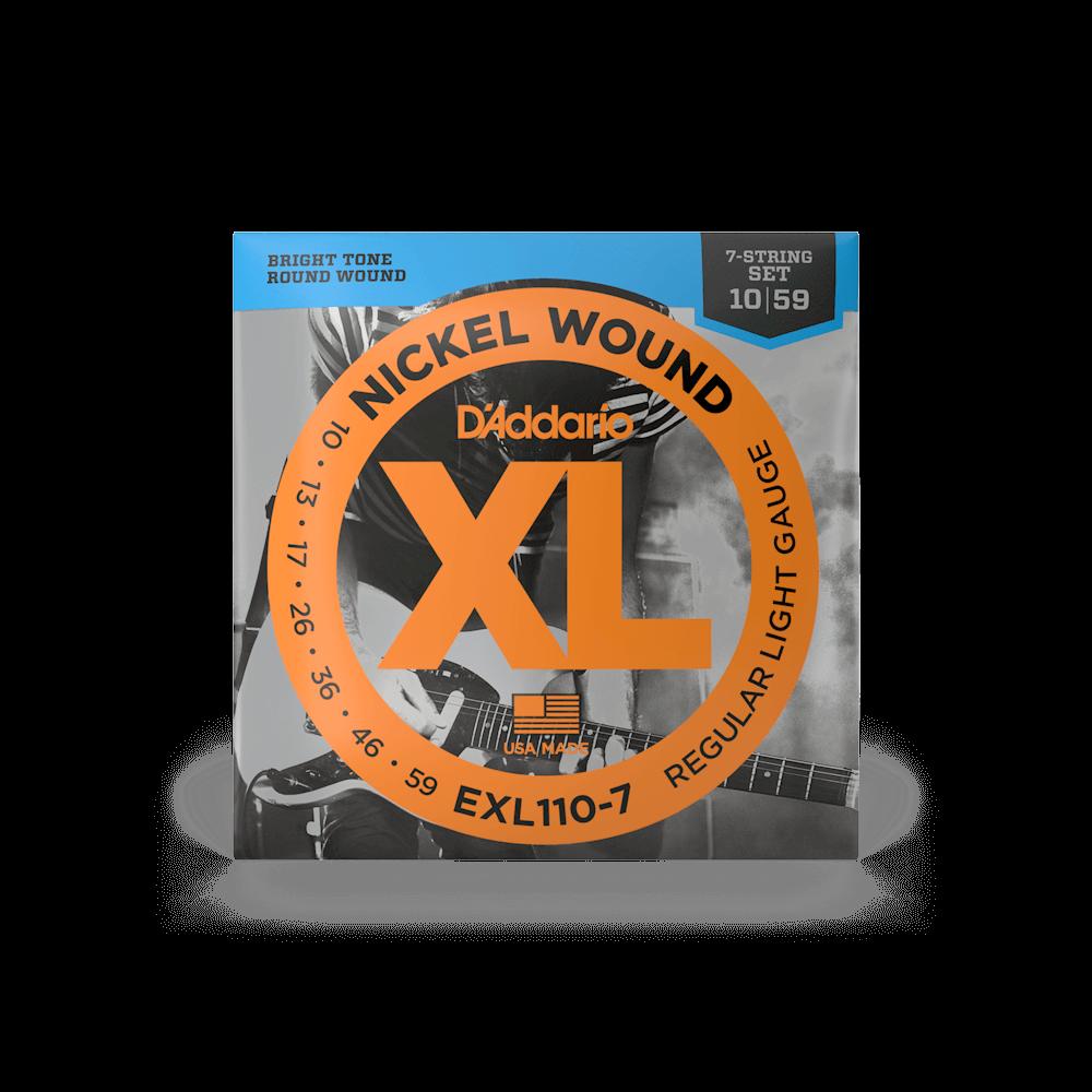 D'Addario EXL110-7 7-kielisen kitaran kielet.