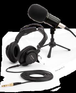 Podcast, striimaus ja etätyö kategoriakuva.