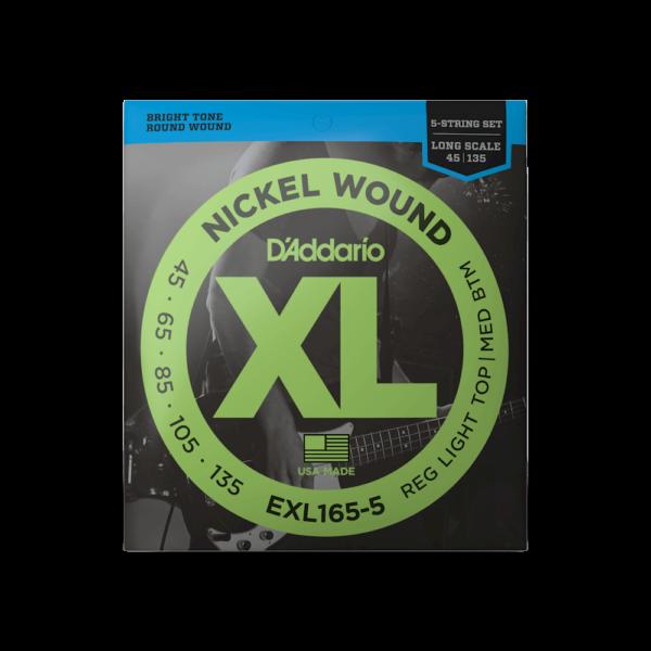 D'Addario EXL165-5 5-kielisen basson kielet.