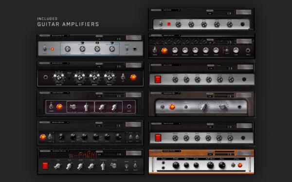 Antelope Audio Synergy Core kitaravahvistin efektejä.