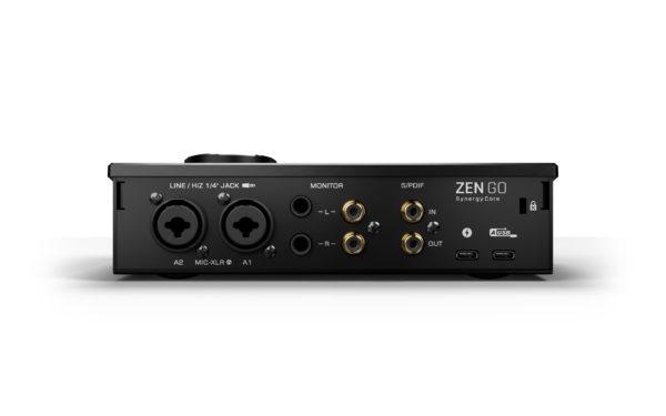Antelope Audio Zen Go Synergy Core äänikortti takaa.