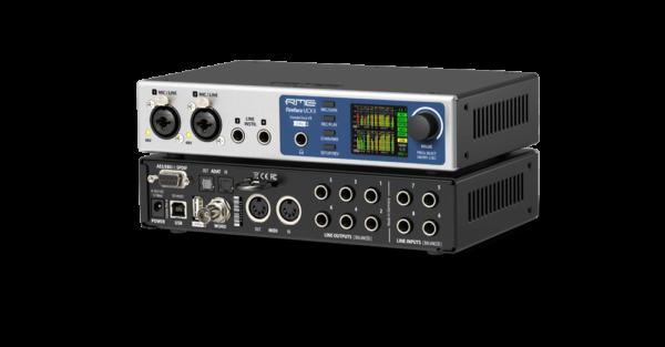 RME Fireface UCX II -äänikortti sivusta.